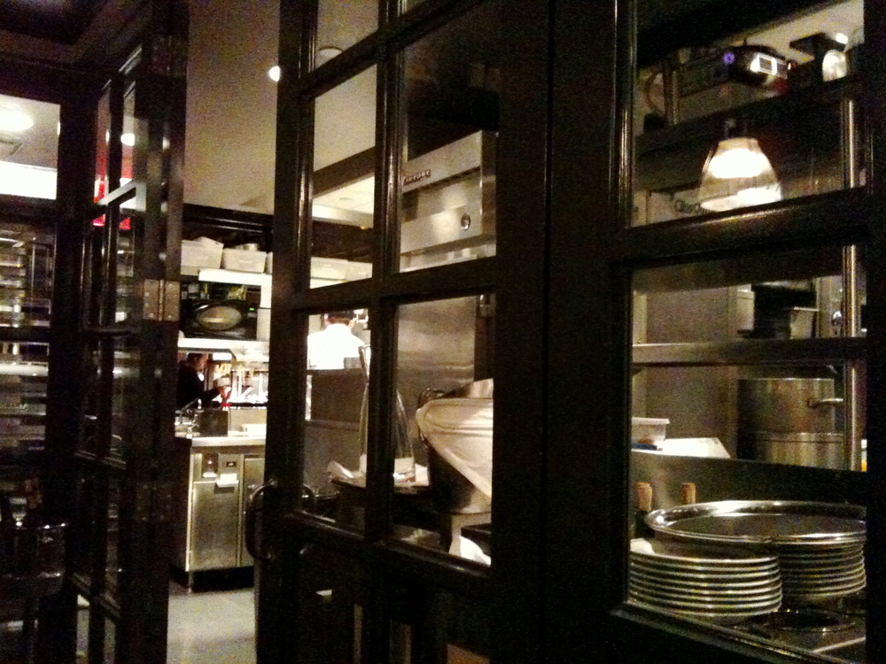A shot of the kitchen from the backroom at DBGB, where a friend had his birthday party.