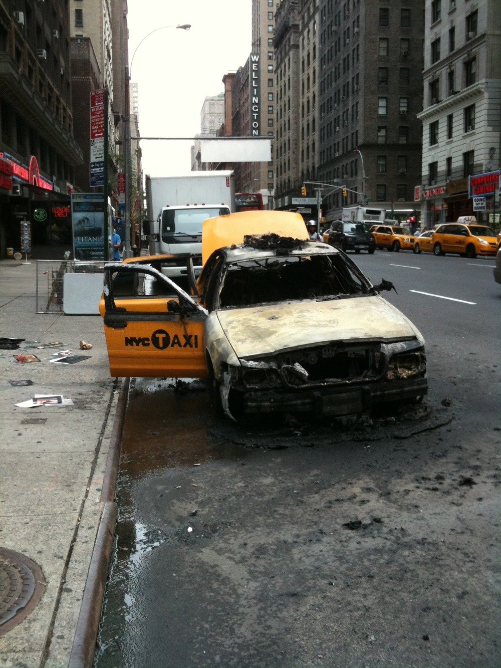 Taxi fire 53rd and 7th