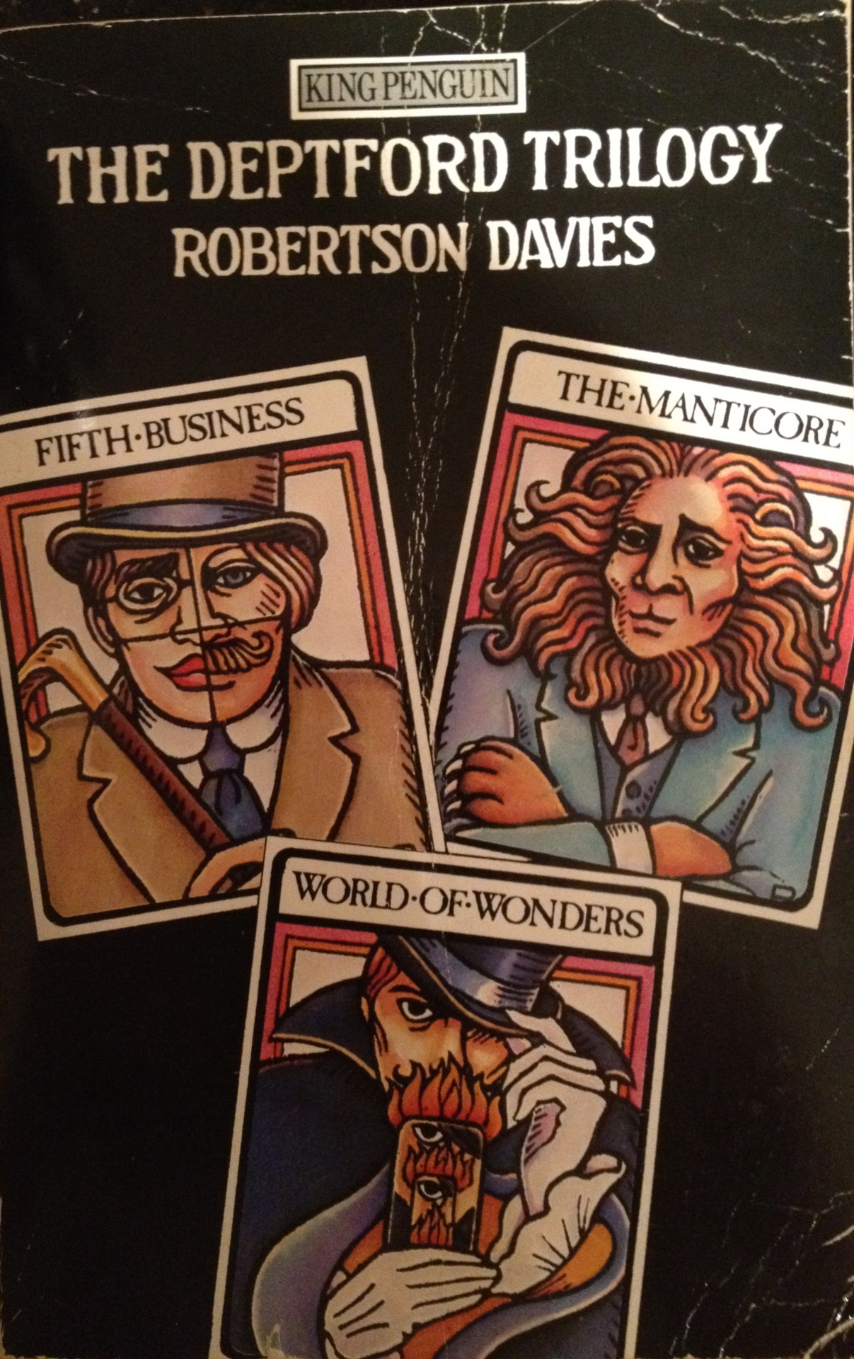 In the early 1980s, when I first read these three novels by  Robertson Davies , I knew nothing about him, though he was perhaps the most famous writer in Canada by then. I sought out and read everything he had ever written, as well as everything he continued to write in the next decade until his death. It was a satisfying journey. It is a journey I would take again, though I don't often re-read books anymore.      [Originally posted on my discontinued This Old Book Tumblr.]