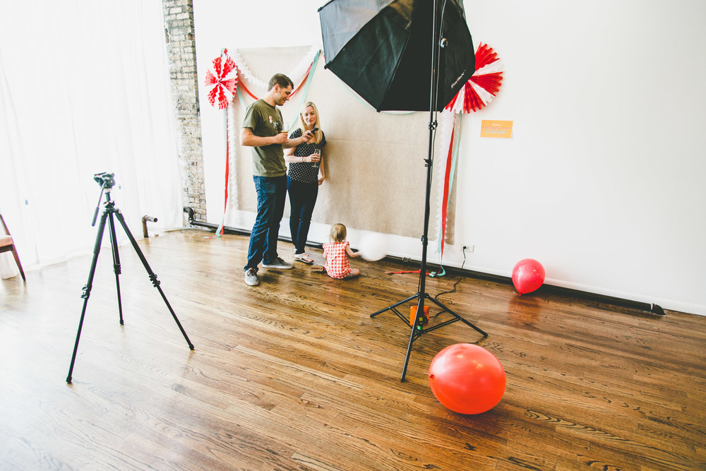 Portrait studio set-up for Growler & Howler