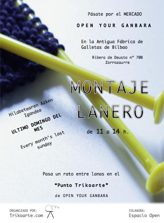 """MONTAJE LANERO"" de TrikoArte en OPEN YOUR GANBARA_EDICION MARZO 2014"