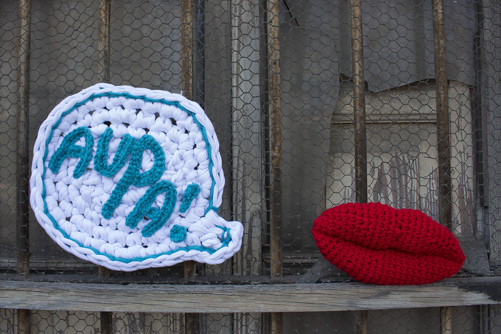 Urban knitting. Aupa Valencia (Trikoarte, 2014)