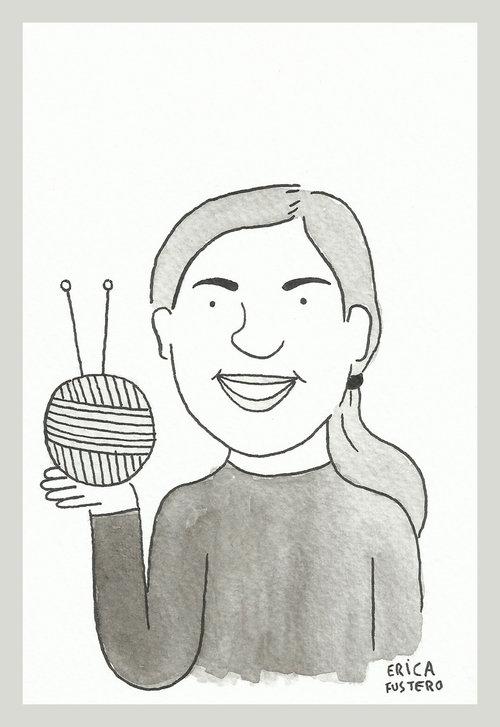 Hola, soy Trikoarte - LA LANA ESTÁ EN LA CALLEMe llamo Mariló Hernández, vivo en Bilbao y soy tejedora desde hace años.Trikoarte es un proyecto personal de creatividad textil a través de las técnicas del punto y el ganchillo. Llevo a cabo acciones de Urban Knitting en el entorno urbano, utilizando la lana como medio artístico, creativo y social, además de organizar eventos que promocionen su uso.En 2011 fui impulsora del movimiento URBAN KNITTING o YARNBOMBING en mi ciudad y desde el 2013 he realizado mis propias acciones.Ilustración:© Erica Fustero