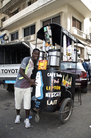 The coffee vendor