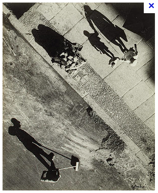 Mystery of Street, Otto Umbehr. See how the horizontal lines give a much more mysterious, dynamic feel to the image!