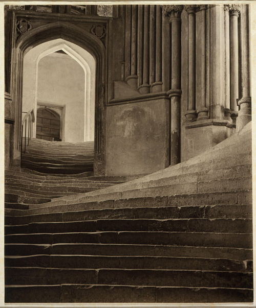 A Sea of Steps - Stairs to Chapter House - Wells Cathedral, 1903