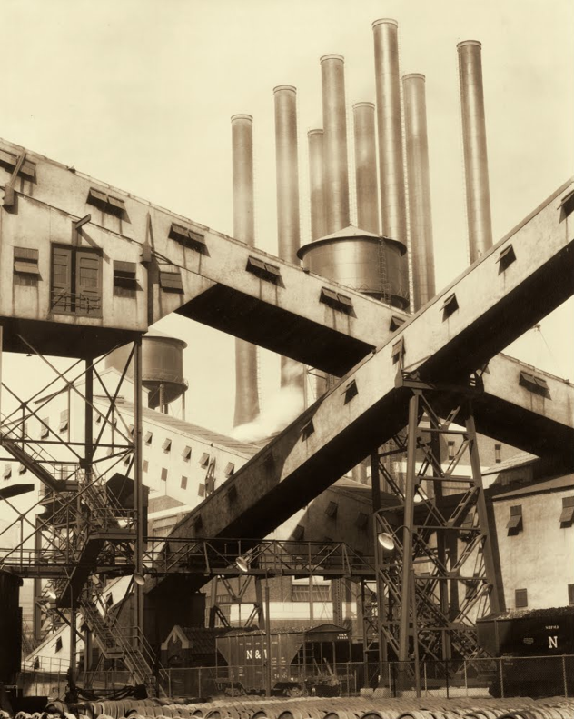 C. Sheeler,  Criss-Crossed Conveyors, American Ford Plant   (1927) The Lane Collection, Boston: Museum of Fine Arts, Available from: http://www.dia.org/exhibitions/sheeler/content/ford_rouge_plant.html