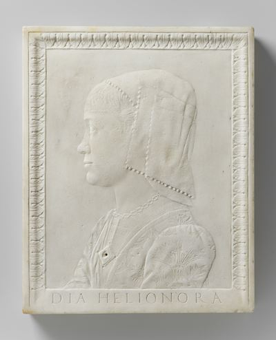 Speriando di Bartolomeo Savelli (1473)  Portrait of Elena of Aragon . [sculpture] [online image]. Amsterdam: Rijksmuseum. Available from:  https://www.rijksmuseum.nl/nl/search/objecten?q=Aragon&s=achronologic&p=5&ps=12&ii=10#/BK-16977,58  [Accessed 7 November 2013]
