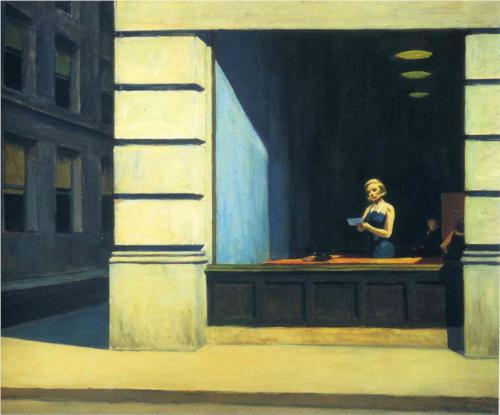 Edward Hopper (1962),  New York Office  [oil on canvas] [online image]. Montgomery: Museum of Fine Arts. Available from: http://www.wikipaintings.org/en/edward-hopper/new-york-office (Accessed 12 November 2013)