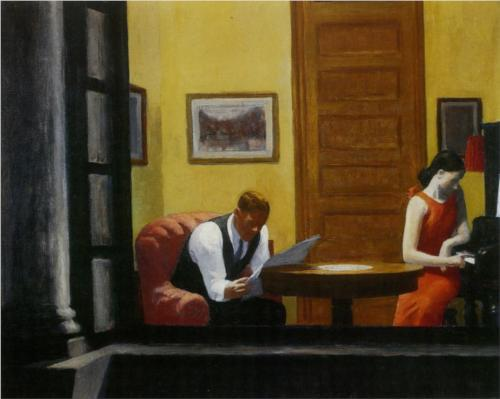Edward Hopper (1940), Room in New York [oil on canvas] [online image]. Lincoln: Sheldon Museum of Art. Available from:http://www.wikipaintings.org/en/edward-hopper/not_detected_235607 (Accessed on 12 November 2013)