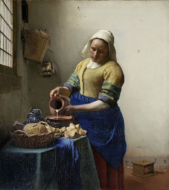 Jan Vermeer (1660),  The Milk Maid  [oil on canvas] [online image]. Amsterdam: Rijksmuseum. Available from: http://hdl.handle.net/10934/RM0001.collect.6417 (Accessed 6 January 2013)