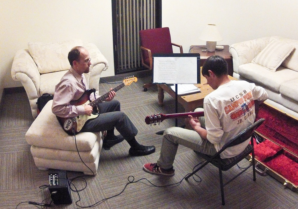 GuitarWitt offers one-on-one instruction in a comfortable space in downtown Santa Barbara, or wherever the student prefers.