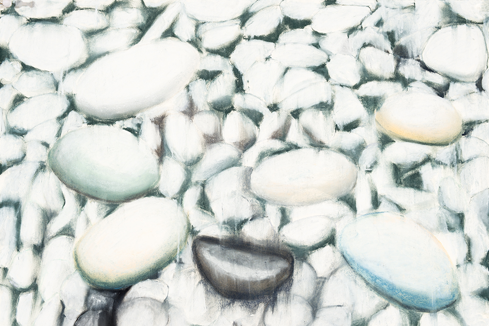 Green White Pebbles