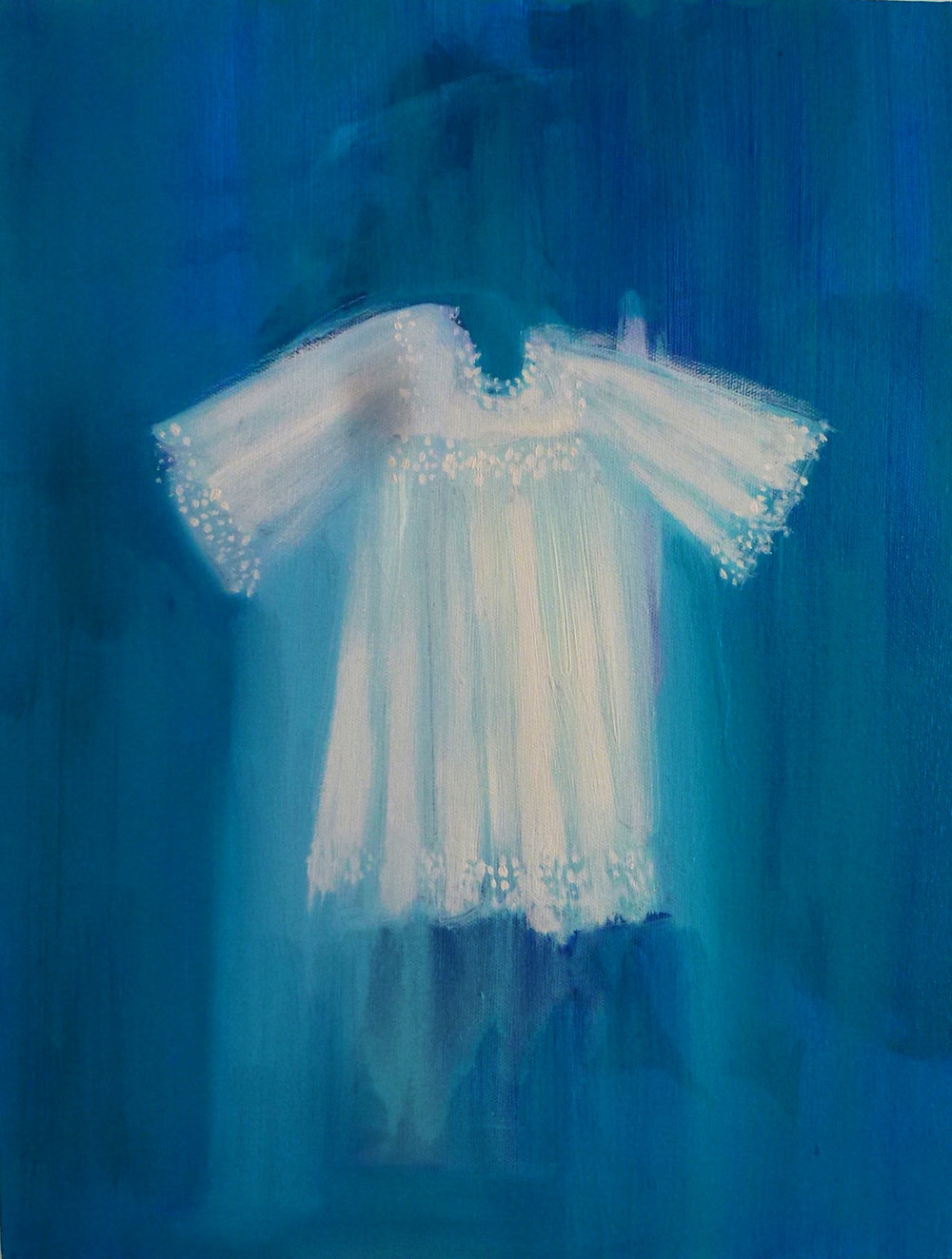 White Robe on Turquoise