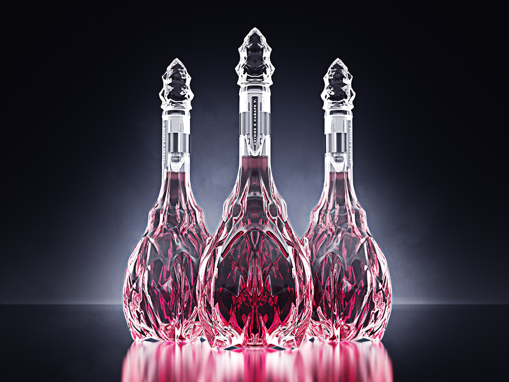 luxury crystal wine decanter 2