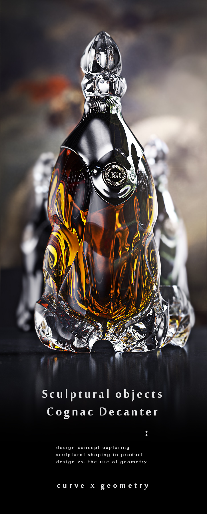 luxury cognac bottle concept