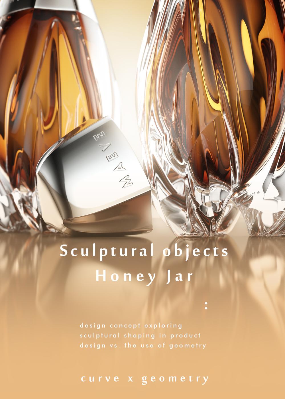 luxury honey jar