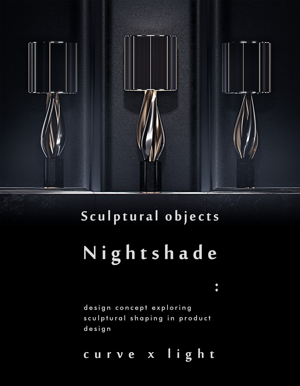 luxury lighting concept, Nightshade Lamp