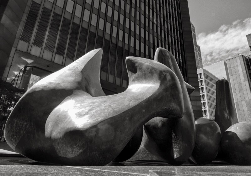 "Detail of Henry Moore's ""Vertebrae"" in Seattle, by Stephen Cysewski"