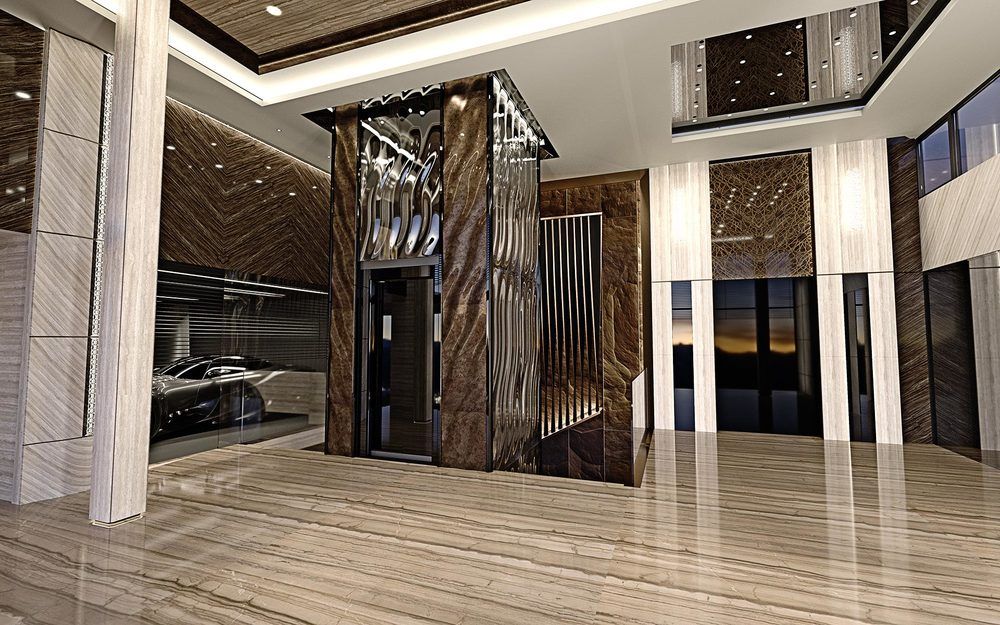 luxury interior design, entry hall