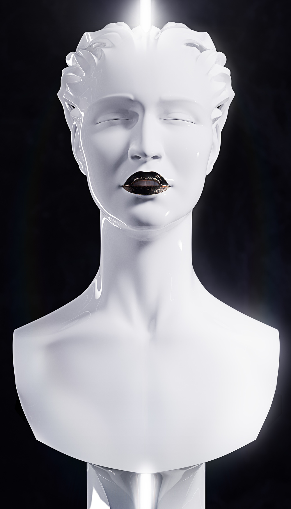Sculpture, portrait of a Singer 2