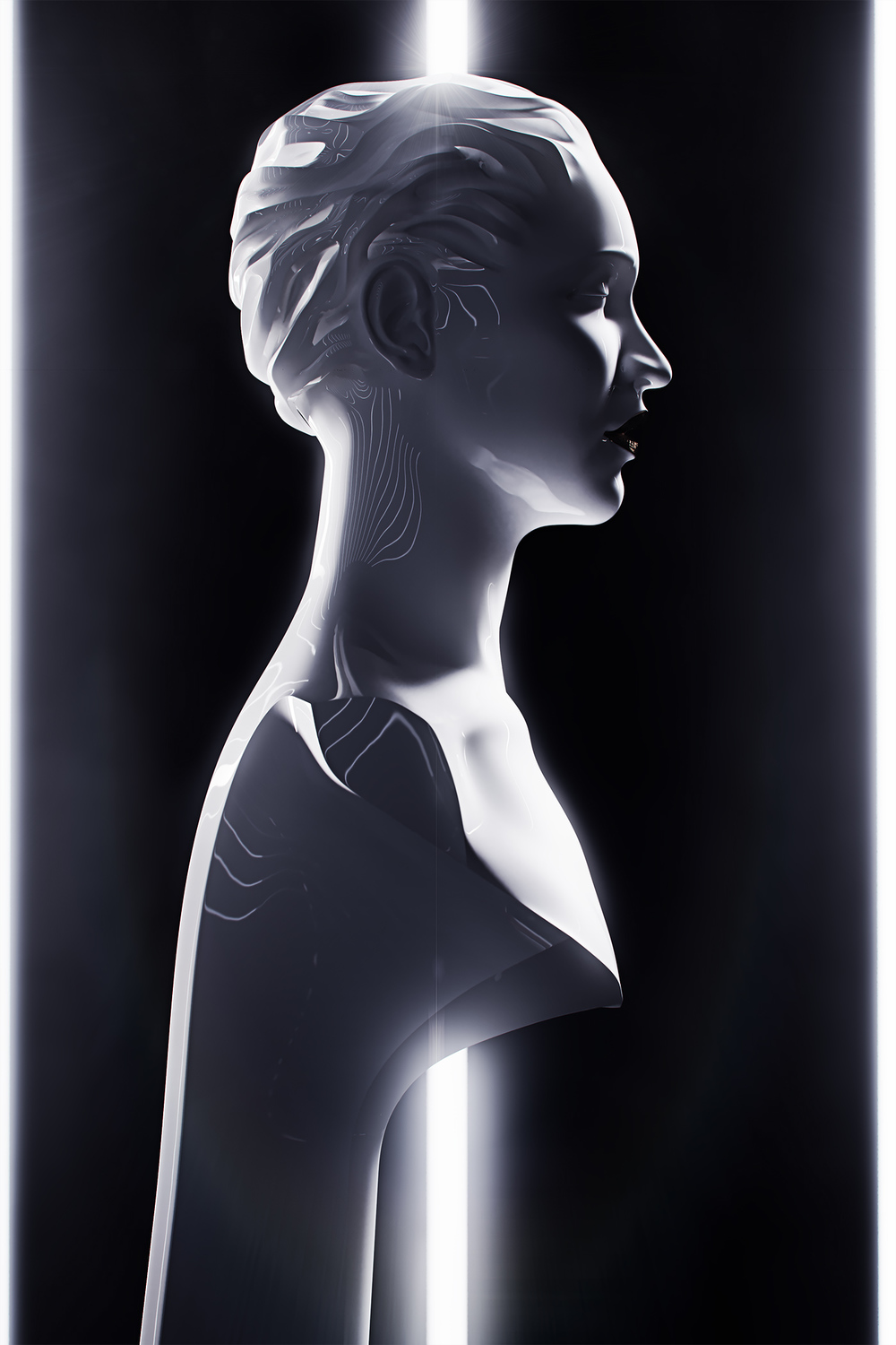 Sculpture, portrait of a Singer 3