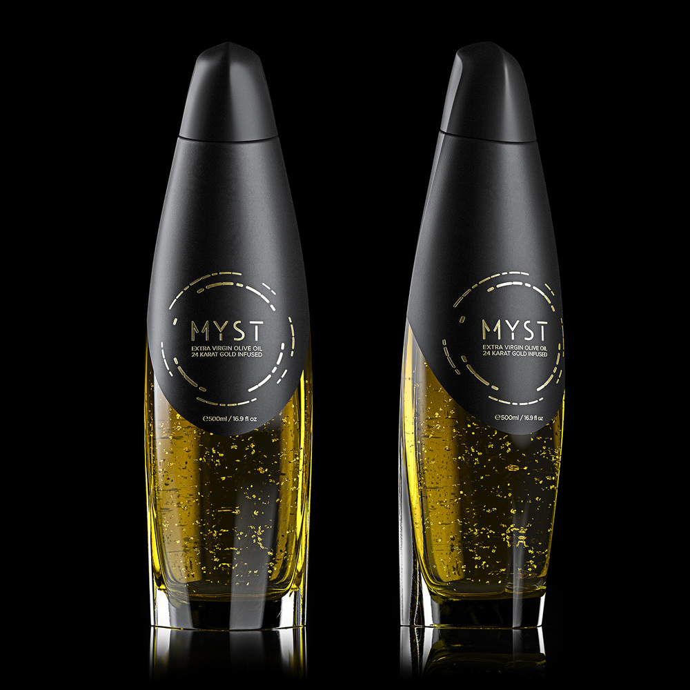 Myst, ultra premium olive oil, bottle packaging 2