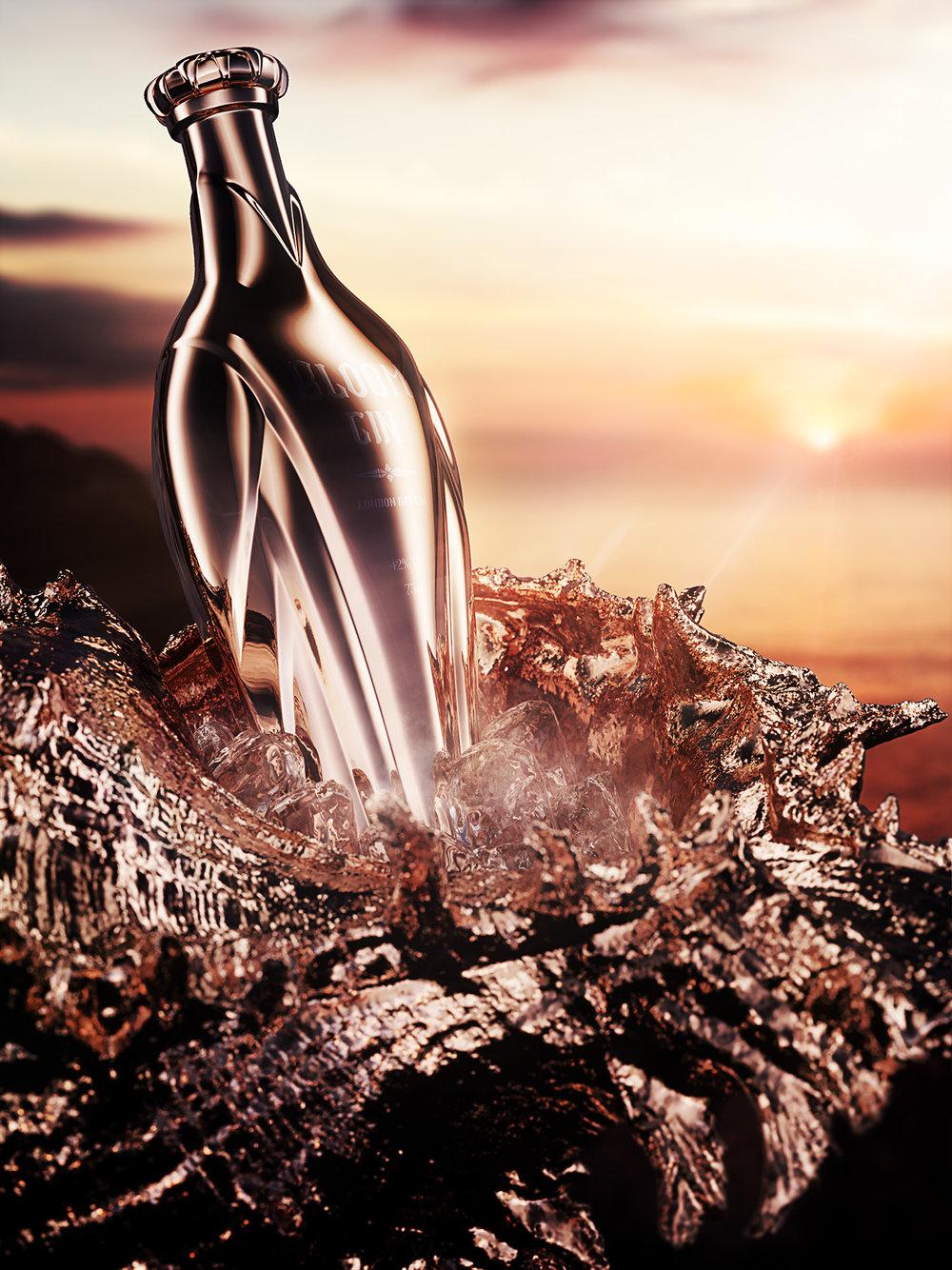 Bloom Gin, premium gin concept 3
