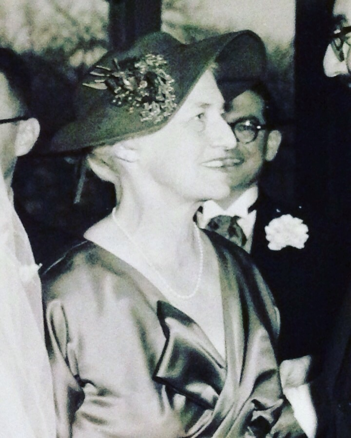 Somewhere between her striking wedding photo and the time that I asked her about it, many years on, a very handsome grandmother.
