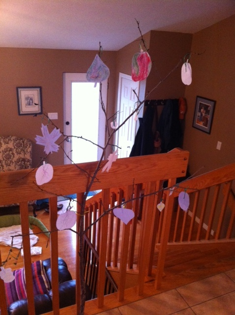 While Jenny and I cooked, Aneliese directed the placement and completion of the thanksgiving tree.