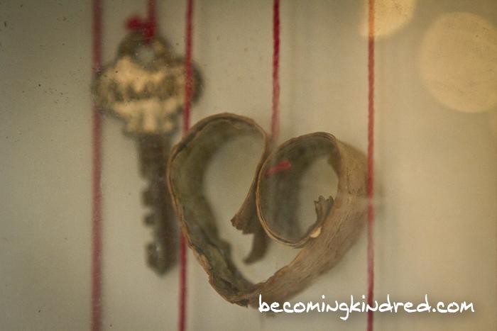 Curled Birch Bark Heart