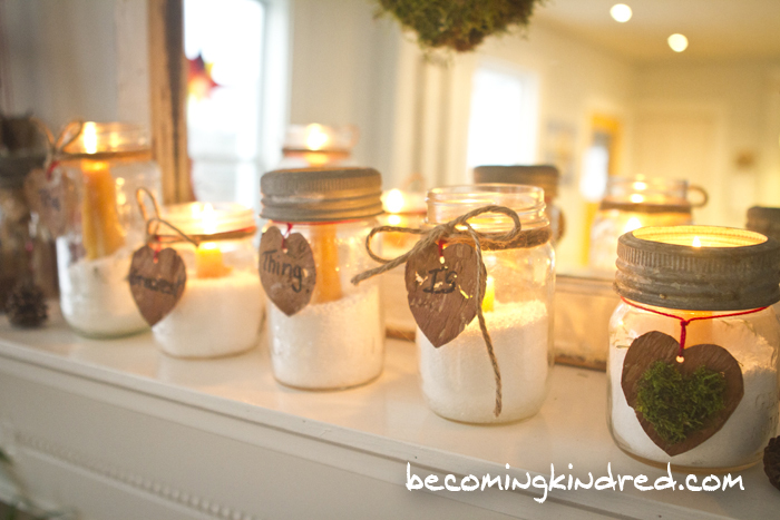 Birch Bark Hearts with Text