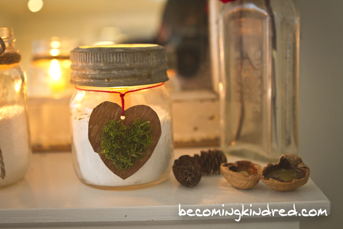 Moss and Birch Heart