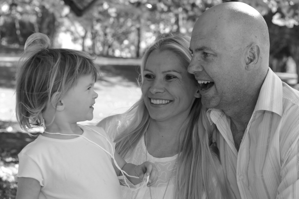 Darryl, his wife Julie and daughter Siana