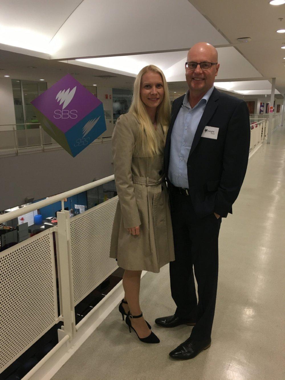 Julie and Darryl visiting SBS Aug 2018