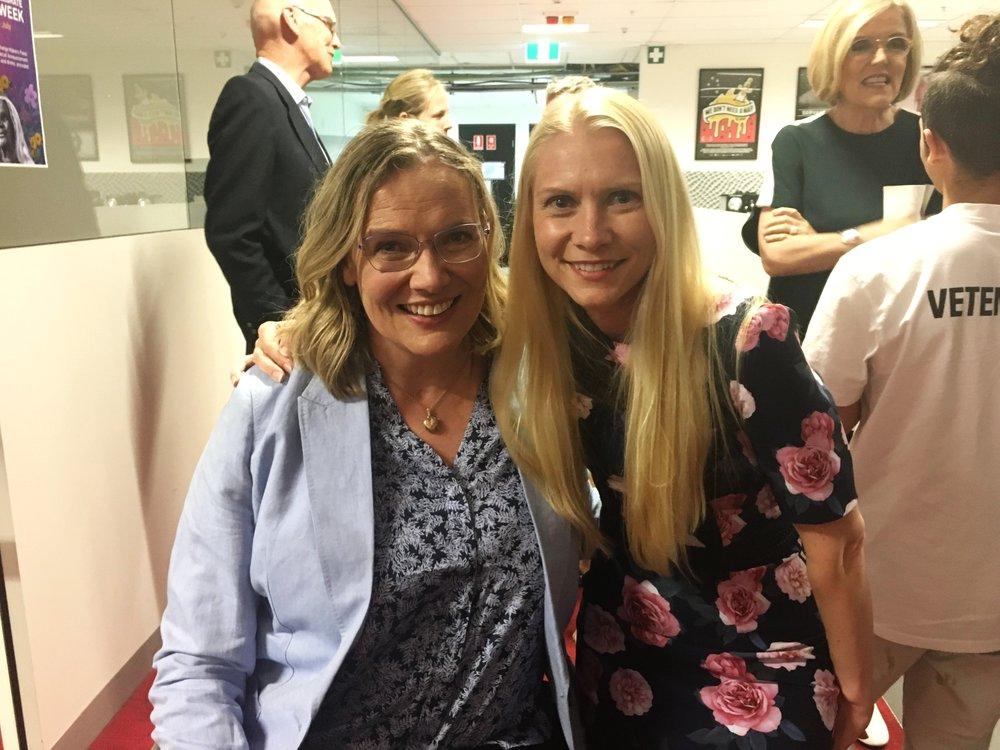 Julie with Louise Ellery