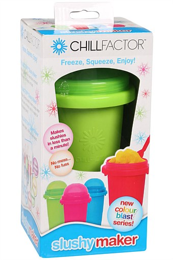 Chill factor squeezie cup slushy maker