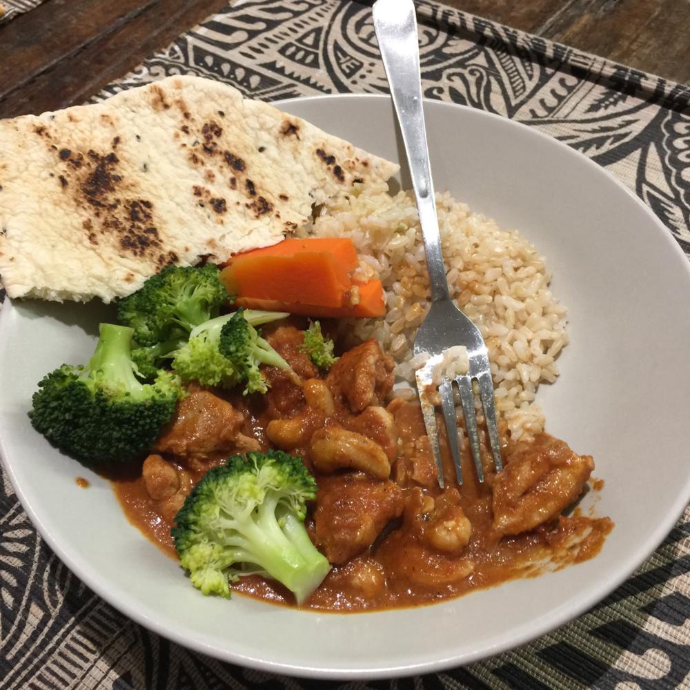 Child friendly chicken curry