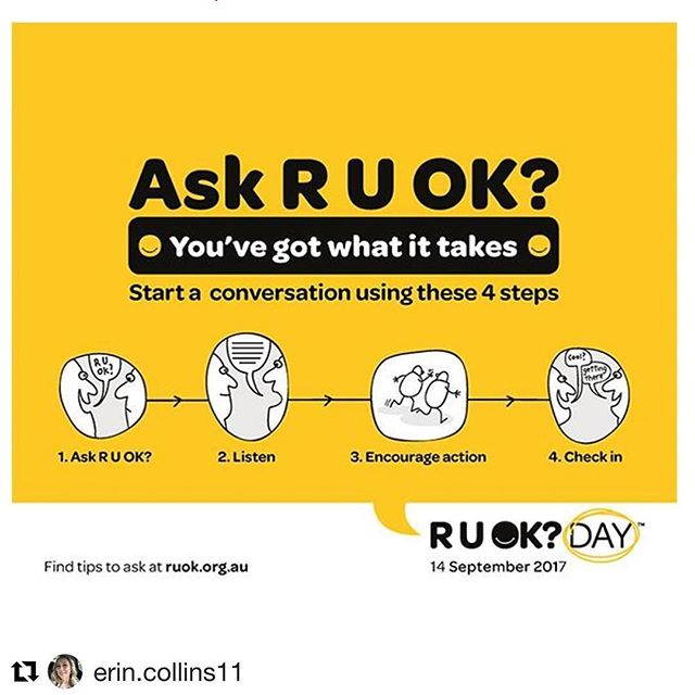 Ask someone you know today if they are okay? Simple steps that could change a life. If you feel like you need a little bit more help, head along to www.ruok.org.au/how-to-ask #ruokay #balancedmentalhealthforall