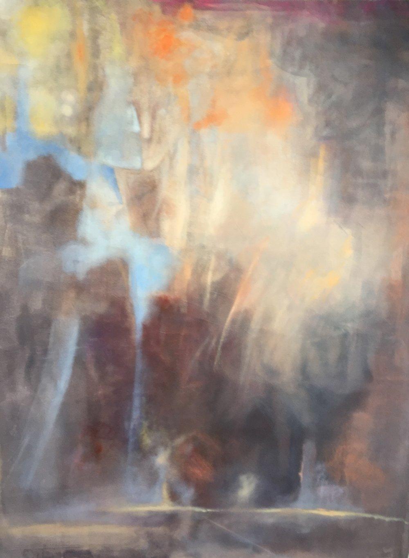 Saki   230 x 200 cm  Acrylic, oil on canvas