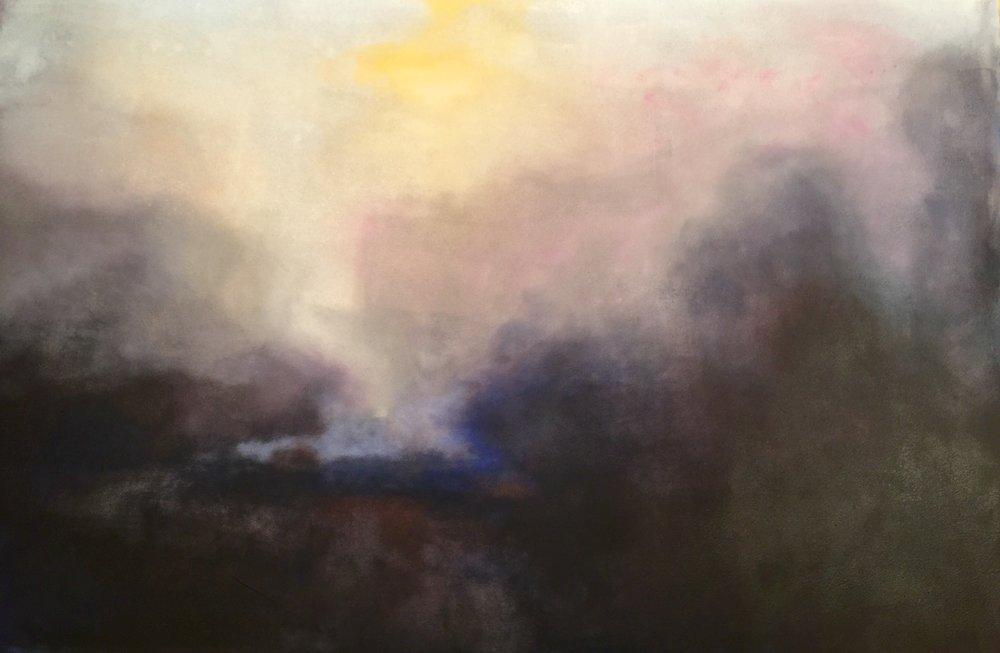 Boran Dala     120 x 180 cm    Acrylic, oil on canvas