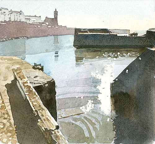 Porthleven Harbour, High Tide