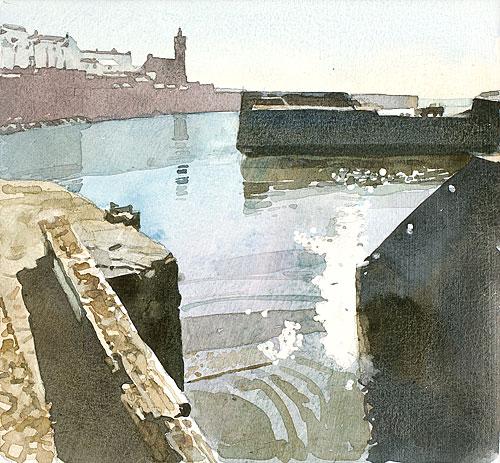 Porthleven Harbour, High Tide