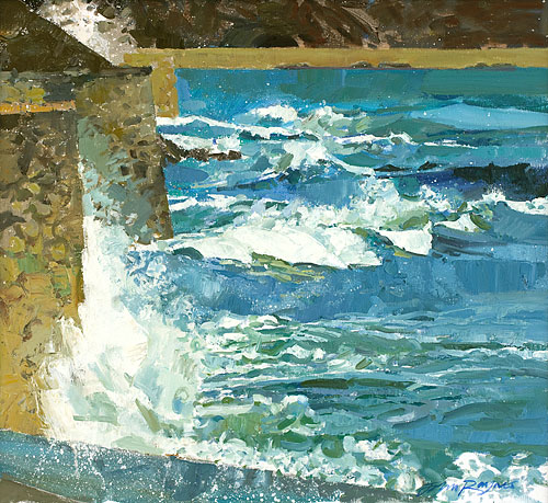 Waves against Sea Walls, Falmouth