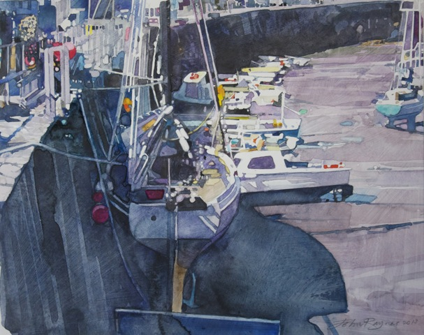 Boats at Porthleven Study