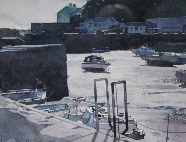 Winter at Porthleven, Study