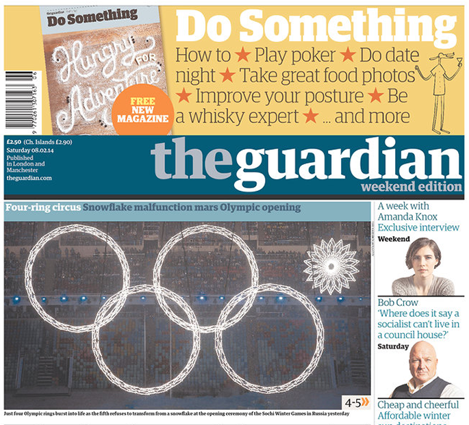 Food Typography + The Guardian