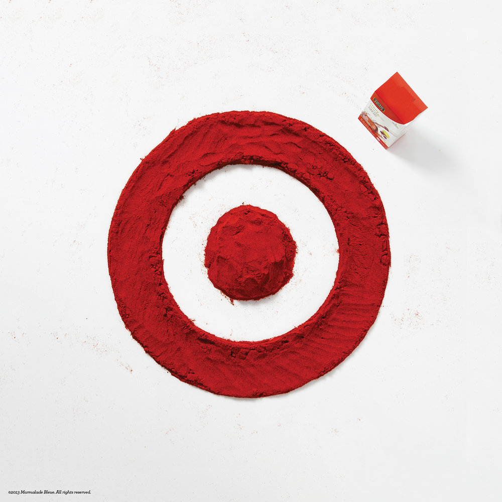 Target Food Lettering for Thought