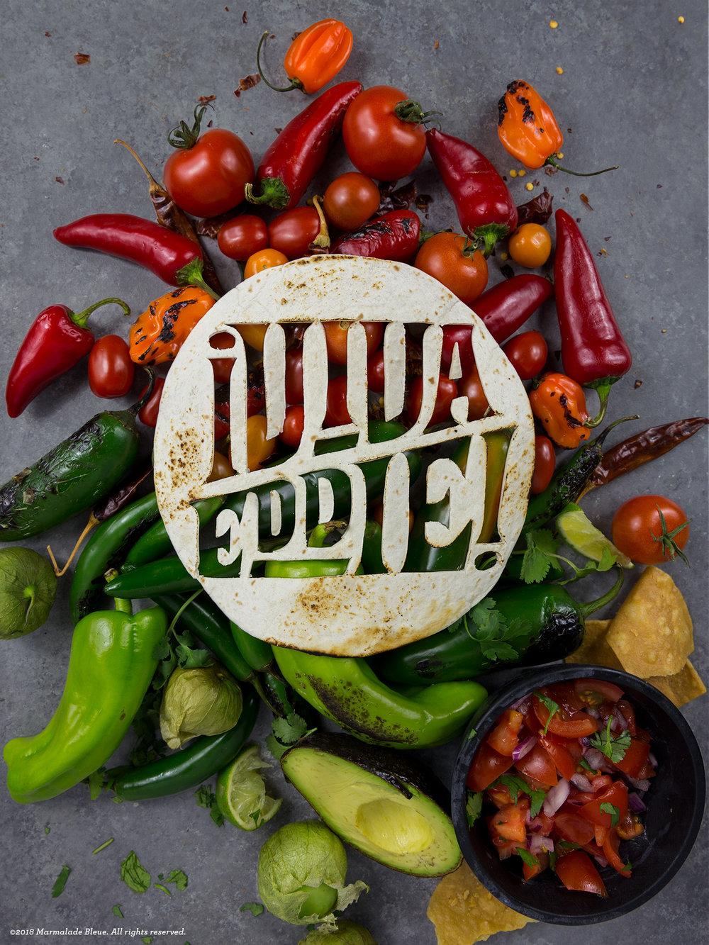 Food Typography + Garden and Gun