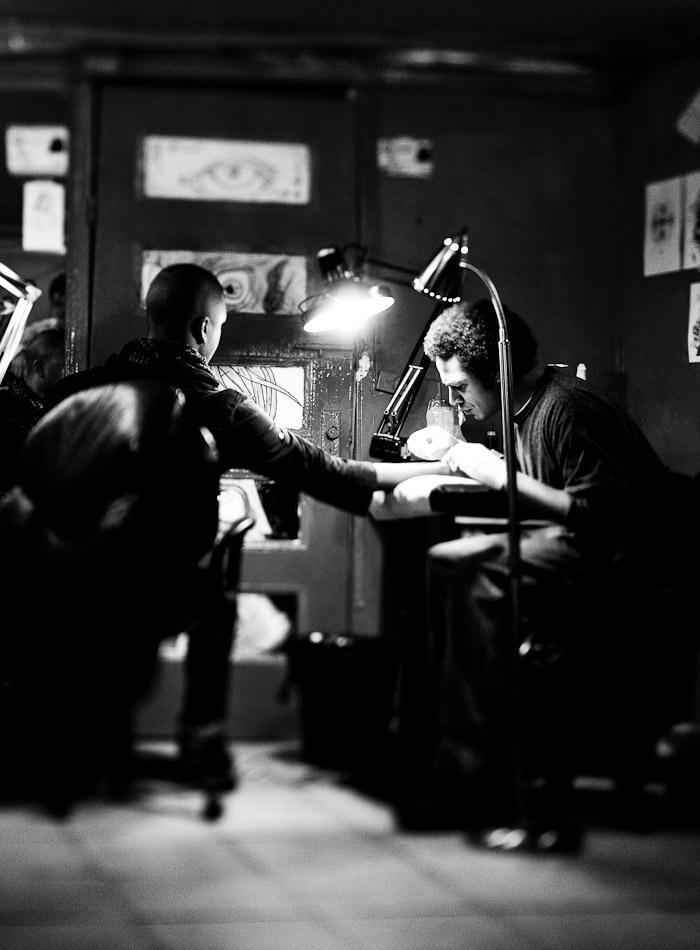 Loren getting ink